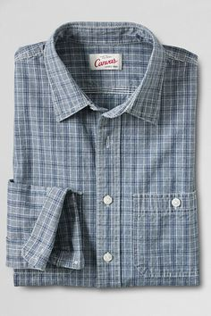 The Shirt That Built America. #Chambray #CanvasLandsEnd #Spring2014
