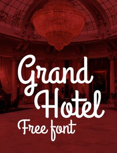 Grandhotel - A condensed upright connecting script by Brian J. Bonislawsky and Jim Lyles. Download Font