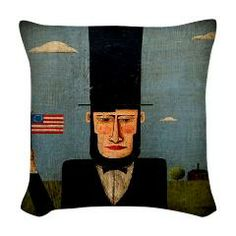 President Lincoln Woven Throw Pillow > president lincoln > Tim Campbell Art