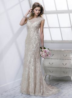 Mischlene - by Maggie Sottero :: 1920's art deco great gatsby wedding dress
