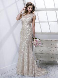Mischlene - by Maggie Sottero :: art deco great gatsby wedding dress Bridal Gown Styles, Wedding Dress Styles, Designer Wedding Dresses, Bridal Dresses, Bridesmaid Dresses, Gatsby Wedding Dress, Glamorous Wedding, Elegant Wedding, Wedding Gowns