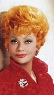 Lucille Ball, great color photo of her.