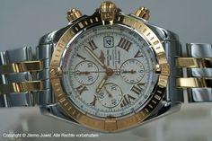 Breitling Chronomat Evolution Chronograph Chronometer Stahl /18K Rosegold C13356 Sehr edles und markantes Modell  aus Edelstahl und 18K Rosegold von Breitling. Unverwechselbarer, professioneller Fliegerchronograph in chronometergeprüfter Qualität. Für italienische Kunstflieger entwickelt bei Jilemo Juwel Hamburg