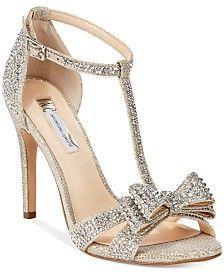 INC International Concepts Women's Reesie Rhinestone Bow Evening Sandals, Only at Macy's shoes gold shoes gold shoes stilettos shoes low heeled Evening Sandals, Evening Shoes, Bride Shoes, Wedding Shoes, Bow Wedding, Party Wedding, Wedding Dresses, Macys Womens Shoes, Blue By Betsey Johnson
