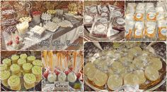White Silver Candy Buffet