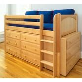 Found it at Wayfair - Twin Box Low Loft Bed with Dressers