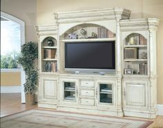 Old fashioned antique entertainment center  #entertainmentcenter #livingroom #DreamHome