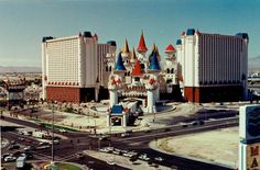 The Excalibur before its grand opening in Las Vegas (1990), photographed by Jane Austin