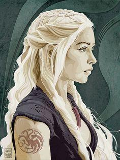 Game of Thrones Daenerys Targaryen by Garth Glazier