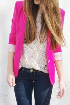 neon pink blazer  #pink #neon #blazer