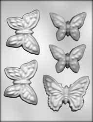 Large Butterflies Chocolate Candy Mold - 90-13179 | Country Kitchen SweetArt