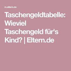 Taschengeldtabelle: Wieviel Taschengeld für's Kind? | Eltern.de