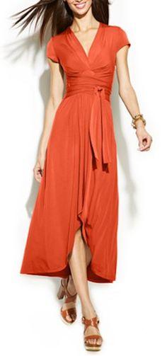 Michael Kors wrap waist maxi dress