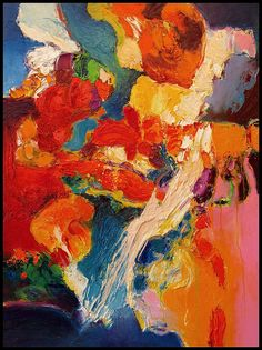 """La Terrasse"" by Gerard Stricher  The color and fluidity are inspiring! Love this!"