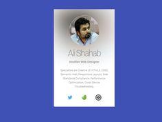 Profile Card by Ali Shahab