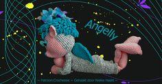 Angelly, wat een leuke details, de teentjes, de billen, de kuiten en natuurlijk de liggende houding. Gehaakt door Niekie van Gestel, ontwerp: Crochessie by Esther Emaar.