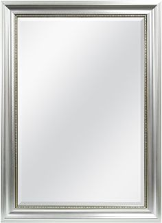 Uttermost Palais Beaded 30 X 40 Silver Wall Mirror