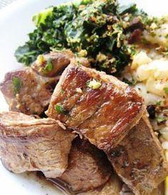 Portuguese food -  vinho-d'alhos (marinated-pork)