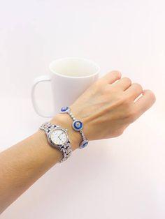 Evil Eye Adjustable Tennis Bracelet Handmade Turkish 925
