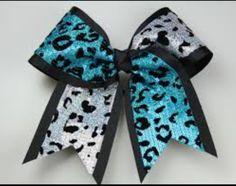 cheetah cheerleading bow ♡