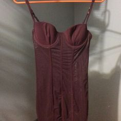 Burgundy lingerie w garter straps Burgundy new w tags 34b Victoria's Secret Intimates & Sleepwear