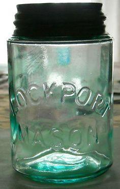 Vintage Lockport Mason Blue Aqua Pint Canning Jar with Zinc Atlas Lid | eBay