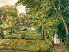 Max Liebermann The Artist´s Granddaughter with the Governess in the Wannsee Garden 1923