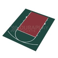 20 ft. 7 in. x 24 ft. 10 in. Half Court Basketball Kit, Uv Protected