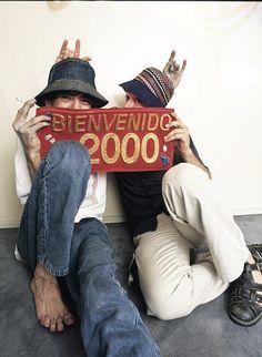 Gustavo Cerati y Charly Garcia, el 21 de Diciembre de 1999) Foto: Nora Lezano
