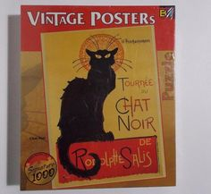 Chat Noir Cat Puzzle 1000 Piece Vintage French Posters Art Nouveau #BuffaloGames
