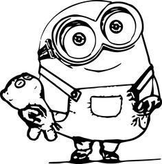 Minions Character 01 Coloring Page