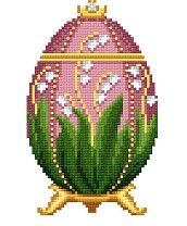 Pay Cross Stitch Pattern - Lily of the Valley Faberge Egg by Solaria Gallery ($2.99)