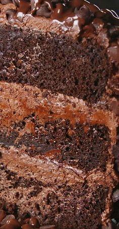 Death by Chocolate Cake - Desserts - Cake Recipes Death By Chocolate Cake, Chocolate Desserts, Baking Recipes, Cake Recipes, Dessert Recipes, Just Desserts, Delicious Desserts, Just Cakes, Snacks