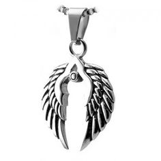 Stainless Steel Wings Design Pendant