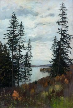 russian-painting:Isaac Ilyich Levitan - In the North, (1896). Oil on canvas, 106 x 77 cm. The State Tretyakov Gallery, Moscow, Russia.