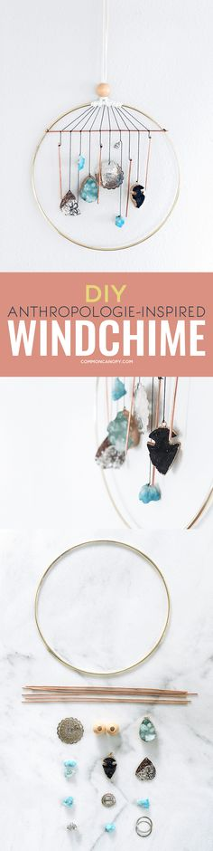 I love Anthropologie! But I love it even more when I can put my own twist on it. I love this wind chime DIY. I can't wait to make my own!