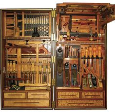 by Steve Eftimiades. The obvious influence for this tool chest is the H.O. Studley tool chest