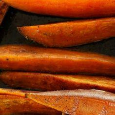Sült édesburgonya mézes-chilis szósszal Cukor, Chili, Good Food, Vegetables, Recipes, Diets, Chile, Vegetable Recipes