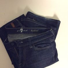 7For All Mankind Jeans size 27 These seven for all mankind jeans I lovingly/gently worn. They are in the size of 27,inseam is 35. Sorry no trades. 7 for all Mankind Jeans Boot Cut