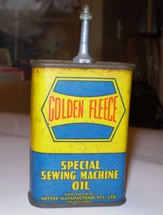 Old Golden fleece service station sewing machine oil can