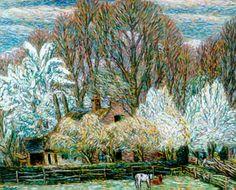 Leendert 'Leo' Gestel (1881-1941) - A Farm in Spring, Eemnes, 1939 Leo, The Joy Of Painting, Modernisme, Georges Seurat, Piet Mondrian, Dutch Painters, Post Impressionism, Dutch Artists, Pointillism