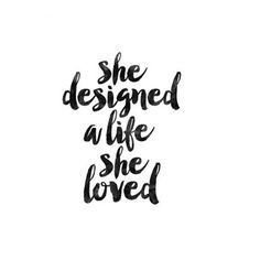 She designed a life she loved - www.instawall.nl