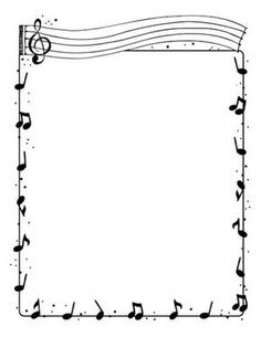 Music Drawings, Music Artwork, Music Wall, Page Borders, Borders And Frames, Music Border, Music Doodle, Drawings Pinterest, Free To Use Images