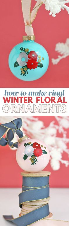diy christmas ornaments – pretty winter floral design made with craft vinyl Source by persialou Modern Christmas, Handmade Christmas, Christmas Holidays, Christmas Bulbs, Christmas Decor, Christmas Ideas, Christmas Printables, Christmas Christmas, Winter Holidays