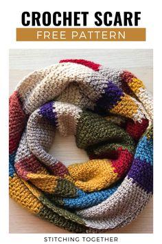 Crochet Scarves, Crochet Shawl, Diy Crochet, Crochet Crafts, Crochet Clothes, Crochet Hooks, Crochet Projects, Crochet Blanket Patterns, Crochet Fashion