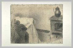 Georges Seurat「Part of the studio」