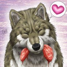 Wolf Smile by SheltieWolf.deviantart.com on @DeviantArt