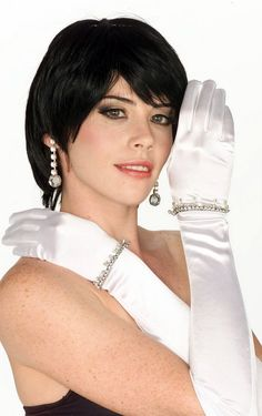 Long Satin Gloves - White, Blue, Green, Pink - Candy Apple Costumes