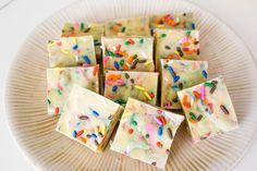 Cake Batter White Chocolate Fudge