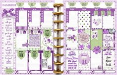 Purple Violet Printable Planner Stickers / 5 PDF Clip Art, Washi, HP & EC Boxes, 180 Icons/ Purple and Green FIVE 8.5x11 PDFs Special INTRO PRICE !! Get it now. *****BONUS BOTH SIZES INCLUDED!***** This kit contains 1.5x2.5 Happy Planner Size boxes AND The EC boxes 1.5 X 1.9 Use the extra boxes to punch shapes! ******************************************** With this purchase you will receive FIVE (8.5x11) printable PDFs ~ Sheet 1: Clip Art ~ Sheet 2: Washi Tape ~ Sheet 3: 180 Icons: me...